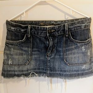 Abercrombie and Fitch Jean Skirt Sz 8